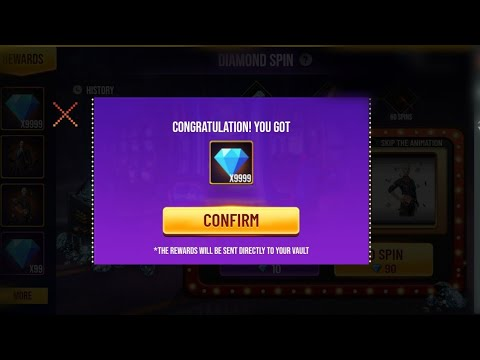 I Got 10000 Diamonds In Diamond Spin Event 2020 Oggy Free Fire Youtube