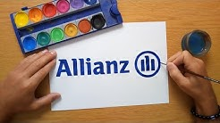 How to draw the Allianz logo