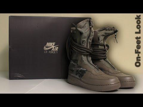"Unboxing SF Air Force 1 High Boot ""Ridgerock"" [Sneaker"