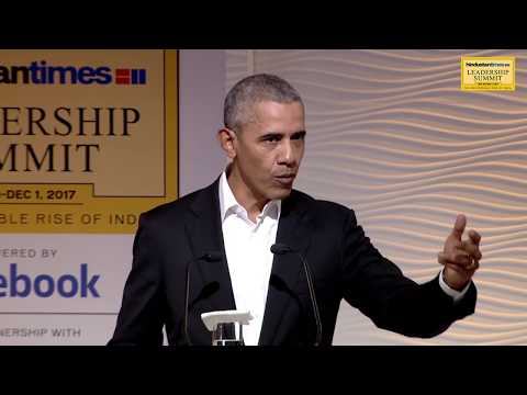 HT Leadership Summit 2017 || Barack Obama || Indo-US relations