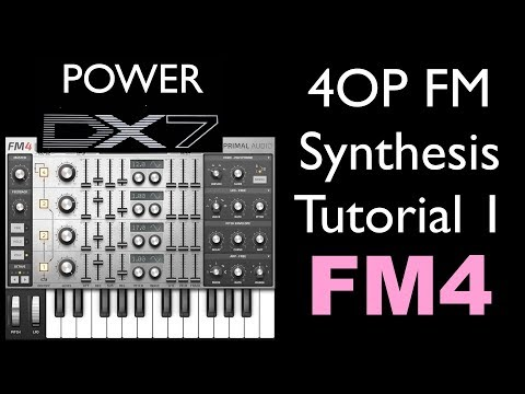 How To Learn Very Basics of FM Synthesis - 4 Operator FM Synth, FM4 Sound Design Tutorial Part 1