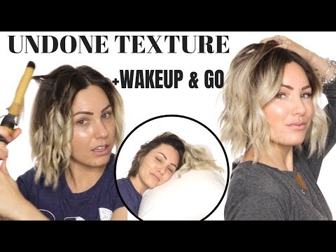CURLING TECHNIQUE FOR BEACHY WAVES || short hair
