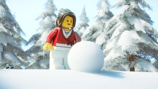 LEGO® Minifigure Family Holiday Card - Snowballs in the Desert!