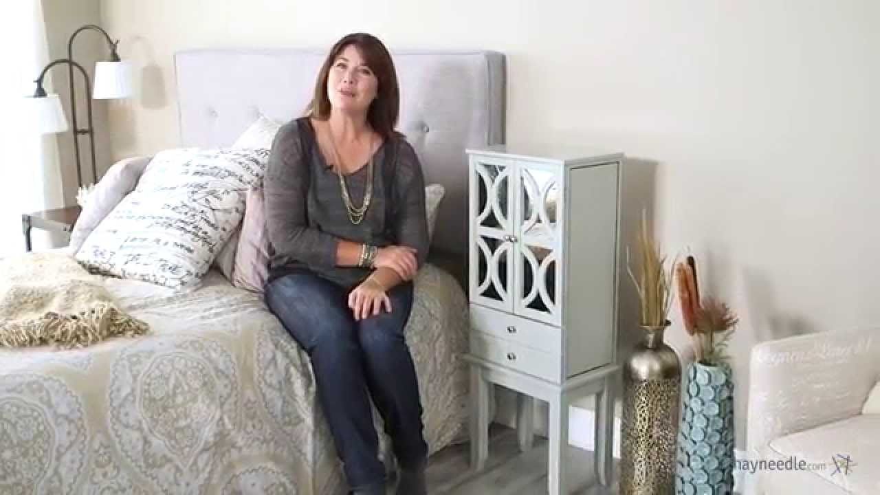 Exceptionnel Belham Living Mirrored Lattice Front Jewelry Armoire   High Gloss Gray    Product Review Video   YouTube