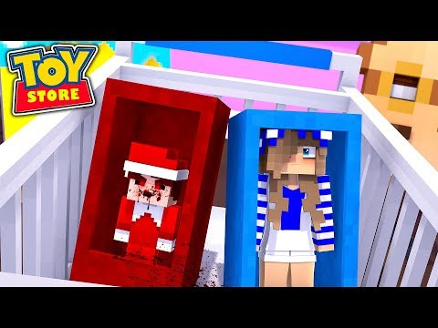 ELF ON THE SHELF .EXE CLOSES DOWN THE TOYSTORE!! w/Little Carly (Minecraft Toystore).