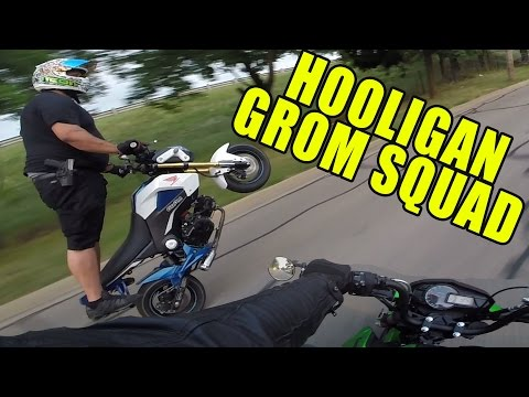 HOOLIGAN GROM / Z125 SQUAD! Open carry on a GROM?!