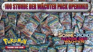 100 Stunde der Wächter Booster Pack Opening!! 450€ Wert!! Größtes Pokemon Unboxing! [Deutsch/German]