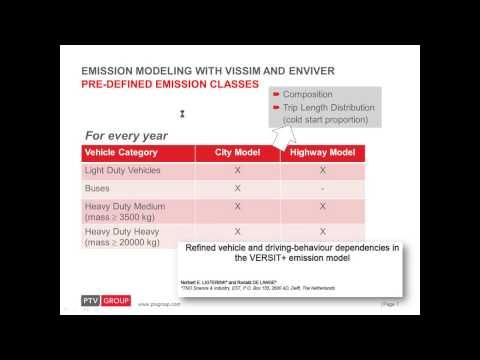 Webinar  Emissions modelling with PTV Vissim