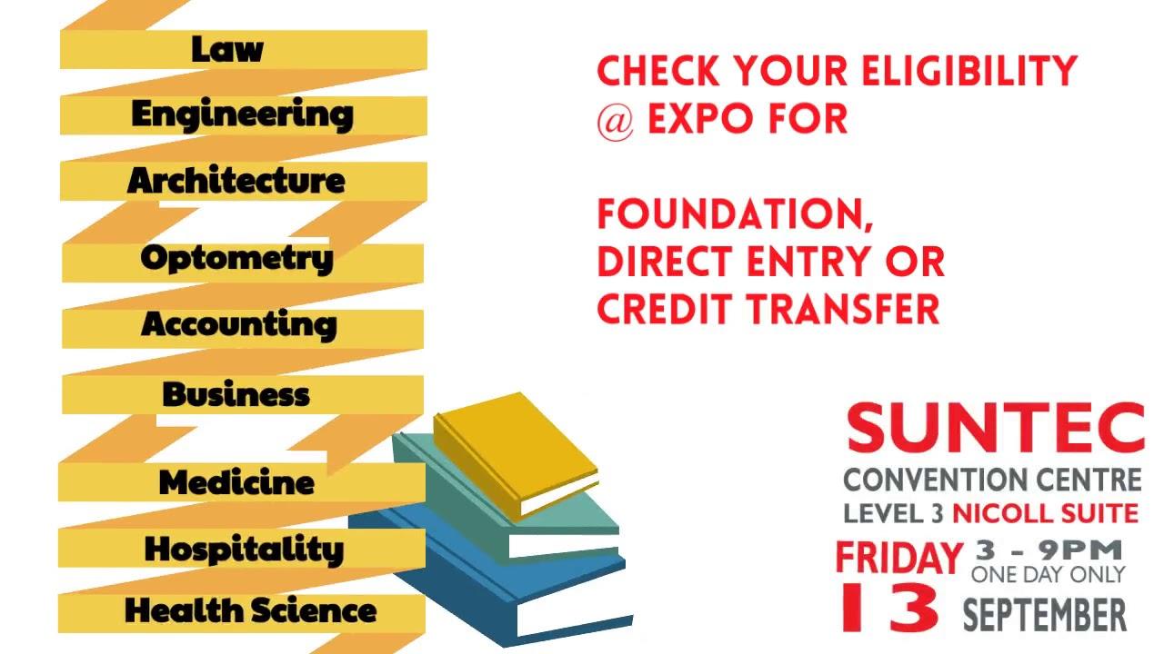 World Uni Expo @ Suntec Fri 13 Sep Level 3 Nicoll Suite