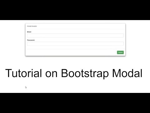 bootstrap modal classes and usage explained