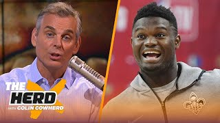 Colin reacts to Zion signing with Jordan & Magic's failed attempt to recruit Kawhi | NBA | THE HERD