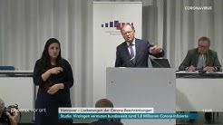 Pressekonferenz der niedersächsischen Regierung zum Fünf-Stufen-Plan in Niedersachsen am 04.05.20