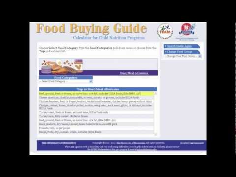 how to use the food buying guide calculator youtube rh youtube com food buying guide calculator online food buying guide usda