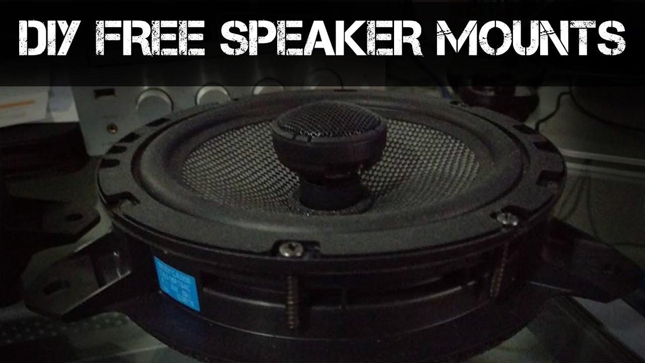 How To Make Free Aftermarket Speaker Mounts For Brz 86 Frs