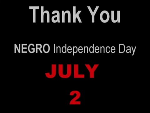 Thank You MLK and LBJ for Negro Independence Day