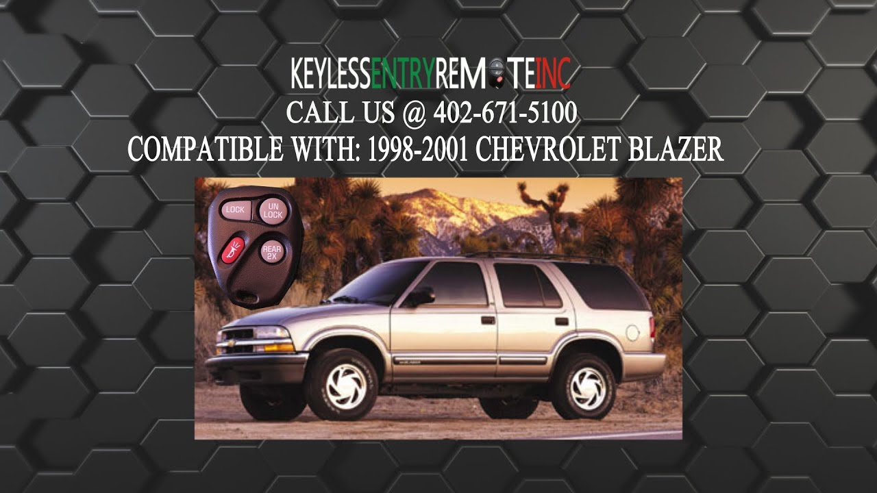 How to replace chevrolet blazer key fob battery 1998 1999 2000 2001