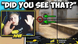 S1MPLE'S FLICK SPEED IS INCREDIBLE! BEST PEEKER IN THE WORLD? CS:GO Twitch Clips