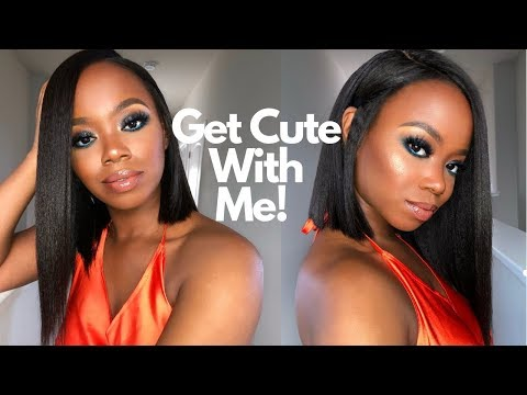Get Cute With Me: Perfect Summer Bob & Blue Sparkly Smokey Eyeshadow