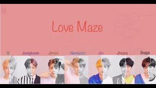 BTS (방탄소년단) - Love Maze  (Color Coded Lyrics Eng/Han/Rom)