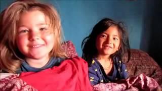 American babby talking Nepali