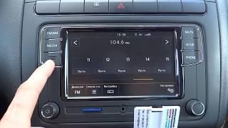 подробно функции RCD330 Desay и как работает камера заднего вида VW polo sedan