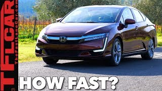 How Quick Is The 2018 Honda Plug-in Hybrid/Fuel Cell/EV Clarity?  First Drive Review