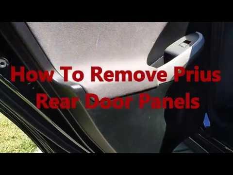 How To Remove Prius Rear Door Panels Toyota Hybrid Youtube