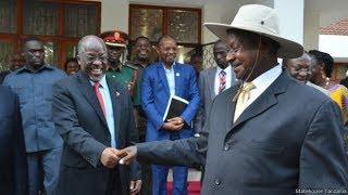 Rais Magufuli na Rais Museveni Walivyozindua Ujenzi wa Bomba la Mafuta