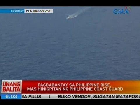 Pagbabantay sa Philippine Rise, mas hinigpitan sa Philippine Coast Guard