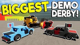 BIGGEST LEGO DEMO DERBY & LEGO RACES! - Brick Rigs Multiplayer Challenge - Lego Car Crashes