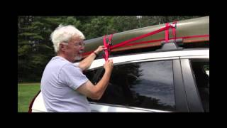 Hornbeck Boats Tie a canoe to a car with a roof rack