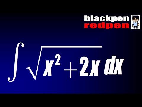 Sect 7.3 #27, integral of sqrt(x^2+2x)