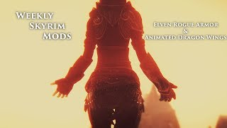Weekly Skyrim Mods: Animated Dragon Wings, Flying Mod Beta, Elven Rogue Armor and Riften Player Home