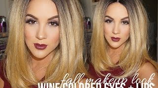 Fall Makeup Look | Wine Colored Eyes + Lips