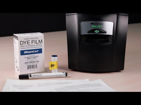 AlphaCard Pilot ID Card Printer - How to Clean Your Printer