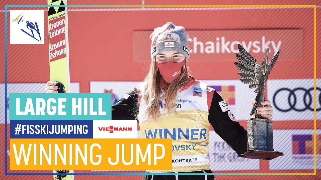 Marita Kramer | 1st place (146.5 mt. - New Hill Record) | Chaikovsky | Women's LH | FIS Ski Jumping