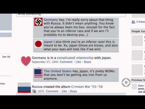 World  War 2 Facebook video infographic