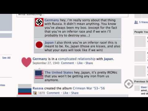 World  War 2 Facebook Video Infographic