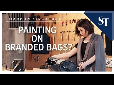 Painting on branded bags  | Made in Singapore | The Straits Times