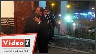 الأمير وجعفر وسمير وفيفى وشريهان أبو الحسن أبرز حضور عزاء والد شيرين وجدى