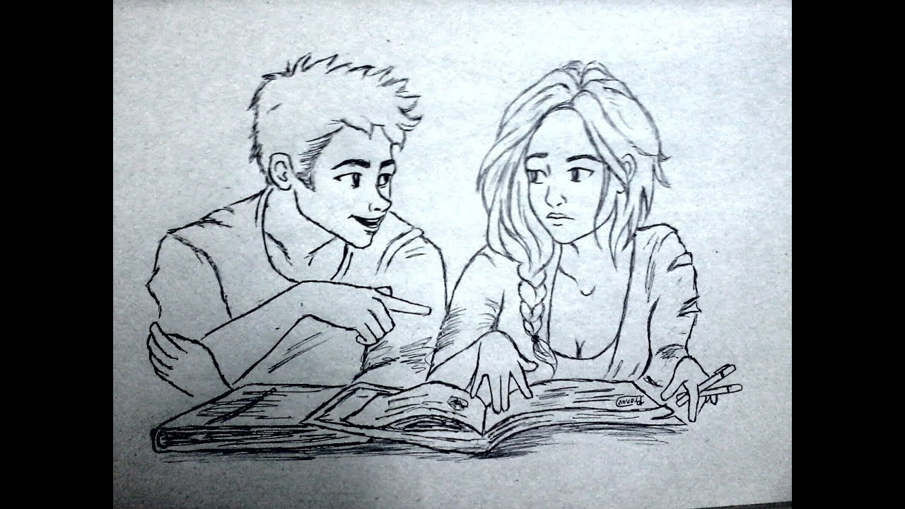 Friendship Day Special Drawing Of A College Couple Youtube