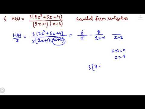 L4 : DSP : Parallel Form (Filter...