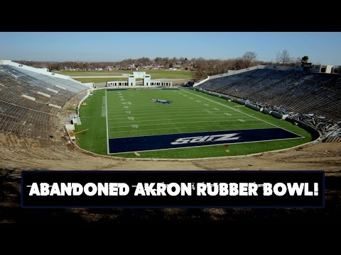 Abandoned Rubber Bowl (Football Field) - Akron, Ohio
