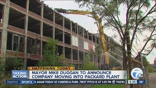 Mayor Mike Duggan to announce company moving into Packard Plant building