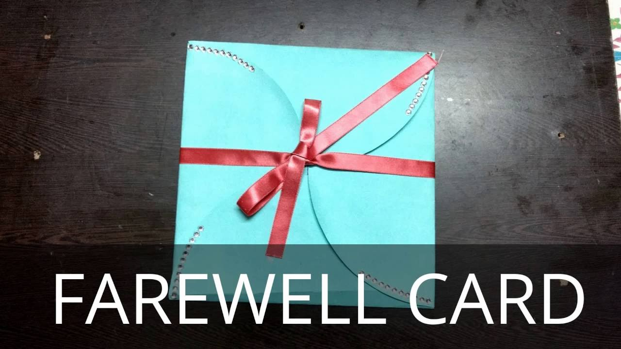 Diy goodbye card farewell card multi fold card youtube m4hsunfo