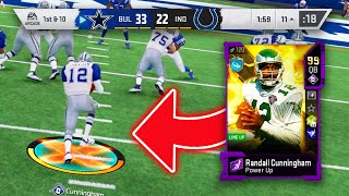 99 OVERALL HUMAN JOYSTICK RANDALL CUNNINGHAM BREAKING ANKLES THROWING DOTS - Madden 20 Ultimate Team