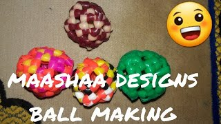 How to make ball with plastic wires