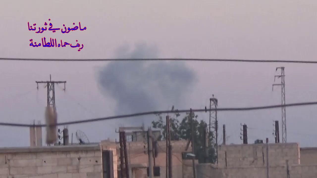 Airstrike on Latamnah today, Northern Hama