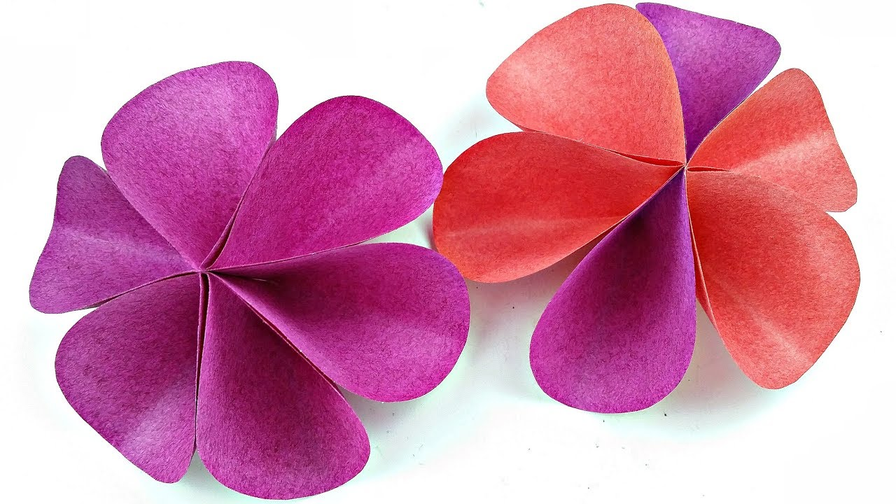 Diy Paper Circle Flower For Wall Backdrop Decoration Arts And Crafts Paper Flowers Easy For Kids