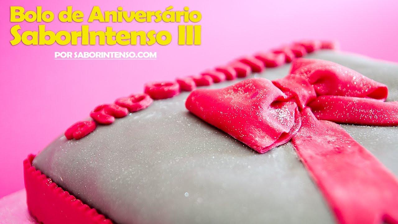Bolo De Aniversário: Receita De Bolo De Aniversário SaborIntenso III (Bolo De